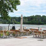 Grillplatz mit Blick auf die Donau